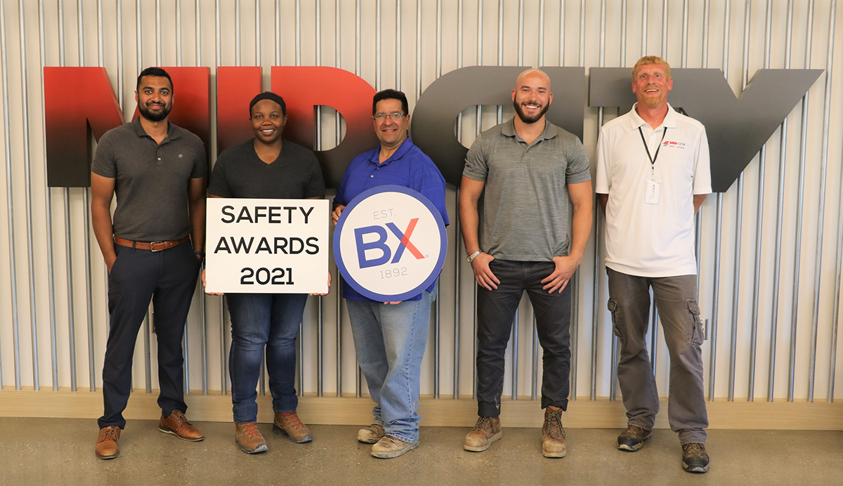 2021 BX Safety Achievement Award (Mid-City Electric / Technologies)